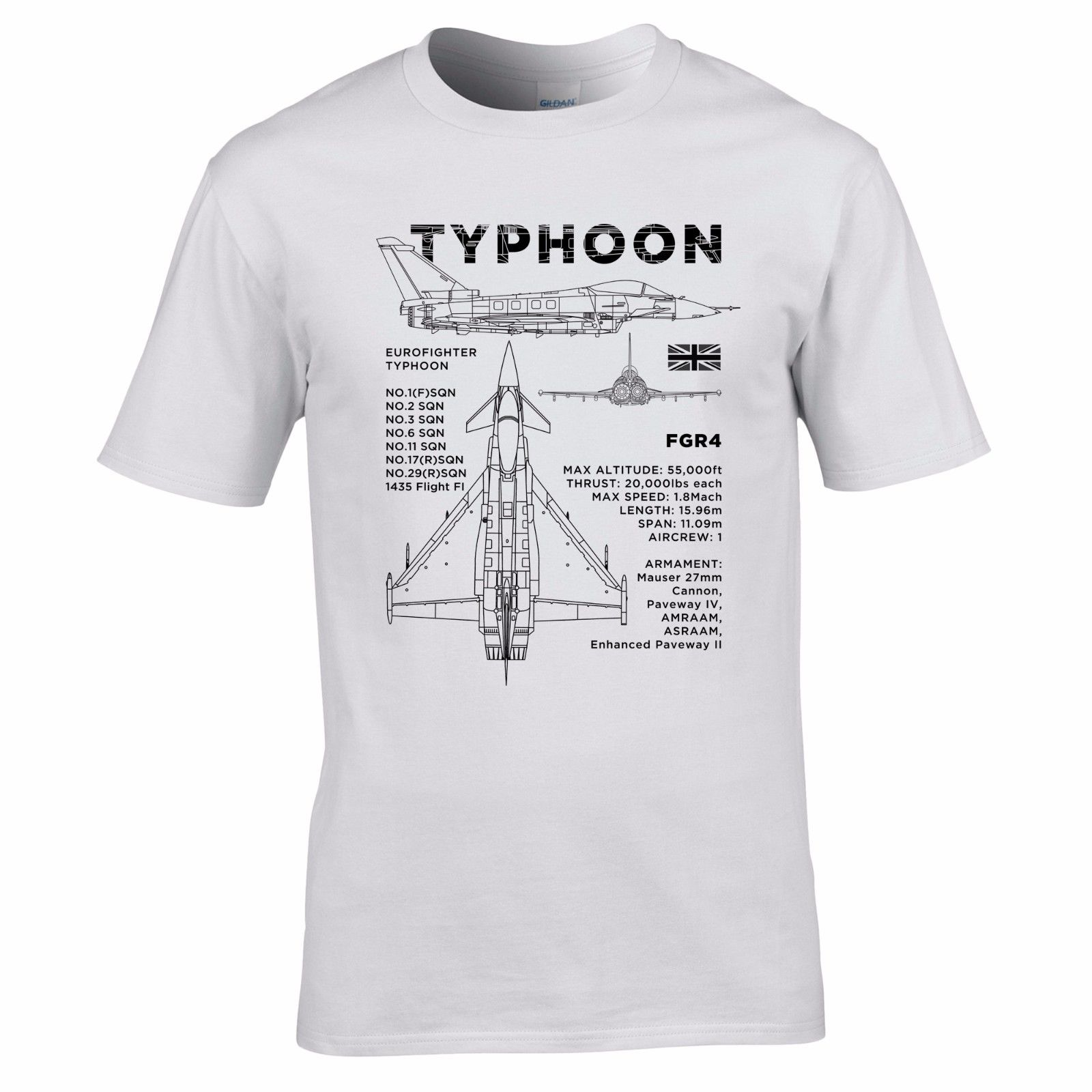 100 cotton brand new t shirts eurofighter typhoon blueprint t shirt 100 cotton brand new t shirts eurofighter typhoon blueprint t shirt aircraft raf fgr4 plane design mens top print t shirt men in t shirts from mens malvernweather Gallery