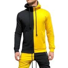 SHUJIN Brand Men Hoodies 2019 New Fashion Autumn Patchwork Sweatshirts Sporting Slim Tracksuit Clothing