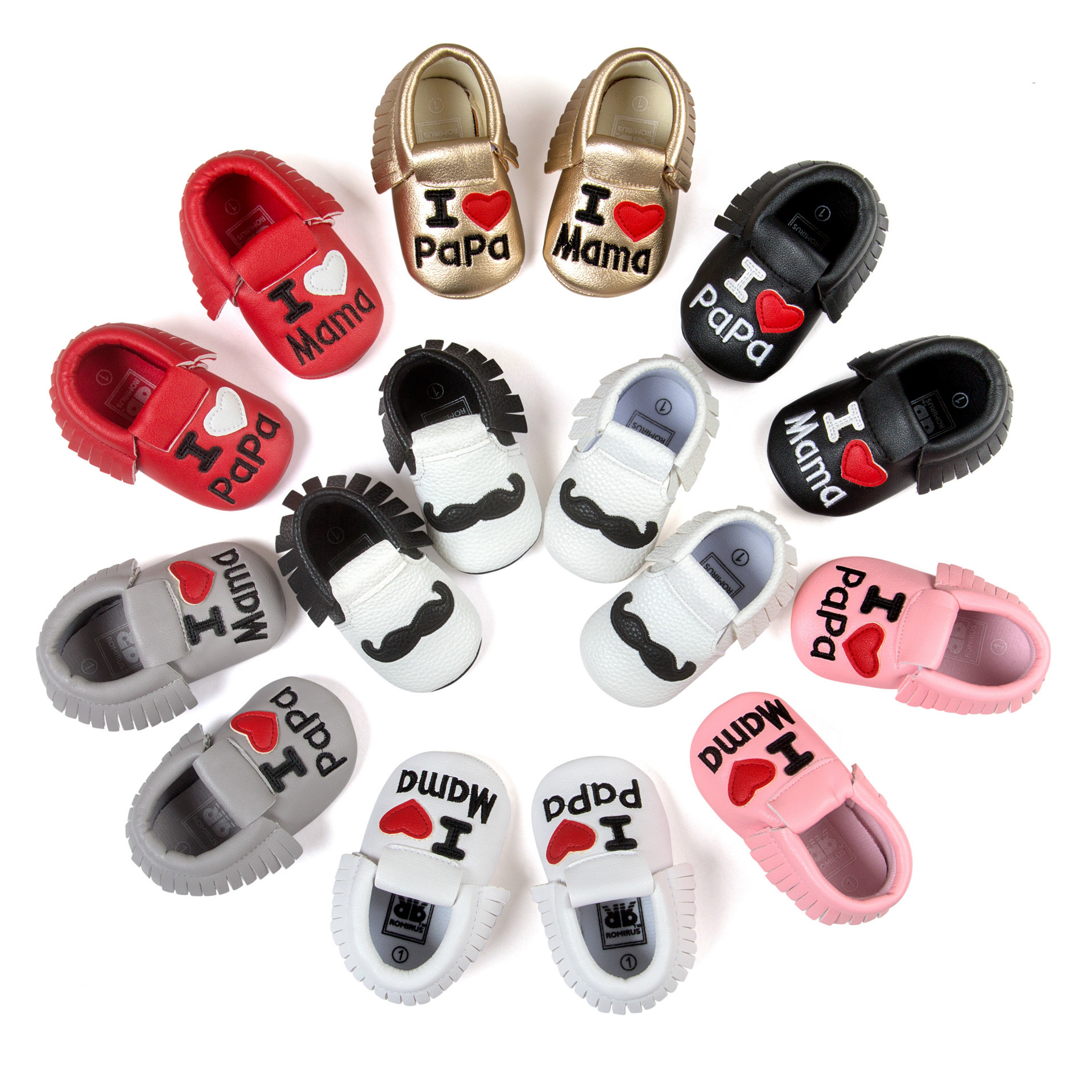 Baby Shoes Boys Girls Tassel Shoes Princess PU Leather Shoes Newborn