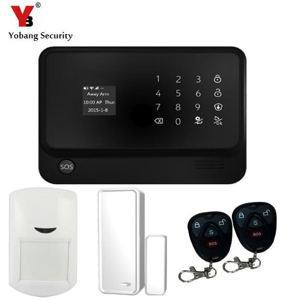 YoBang Security Touch Keyboard WIFI GSM Security System Android IOS APP Remote Control PIR Motion Detector Door Window Sensor.