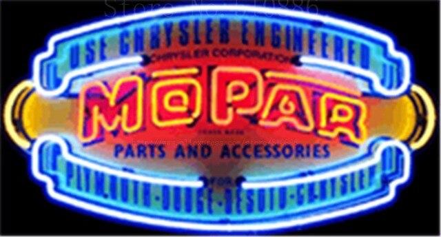 """MOPAR Vintage Schild Auto Glasrohr Auto leuchtreklame Businese Handcrafted Automotive Shop Zeichen Schild Signage 19 """"x 15"""""""