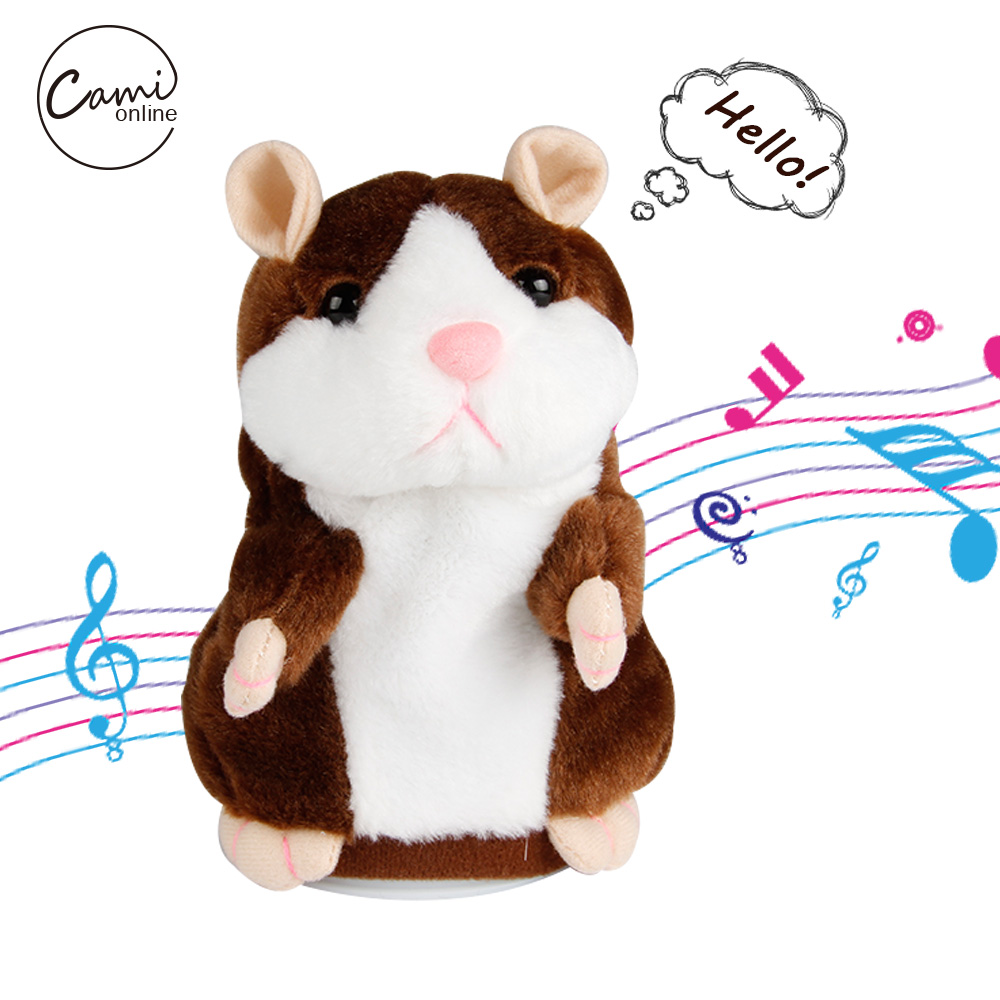 15cm Talking Hamster Plush Sounding Toy Cute Repeated Speaking Mouse Toy Learn To Speak Electric Record Hamsters creative kids talking hamster electronic pet toy 1pc