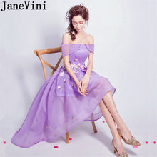 5c10902f0524fd JaneVini Short Front Long Back Sexy Bridesmaid Dresses High Low Jurken Lang  Ladies Prom Dress 2018 Flowers Wedding Party Gowns