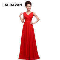elegant red bridal plus size purple mother of the bride dress v neck vestido para festa long formal women's party dresses 2019