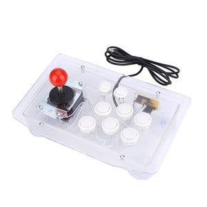 Image 4 - Joystick de arcade acrílico transparente, 8 botões direcionais de jogo de computador com fio usb