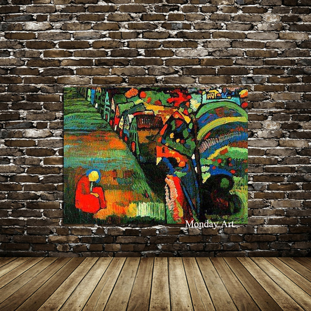 100 Hand Painted Canvas Painting Wassily Kandinsky Still life Abstract oil Painting Drawing art Unframed Canvas picture kitchen in Painting Calligraphy from Home Garden