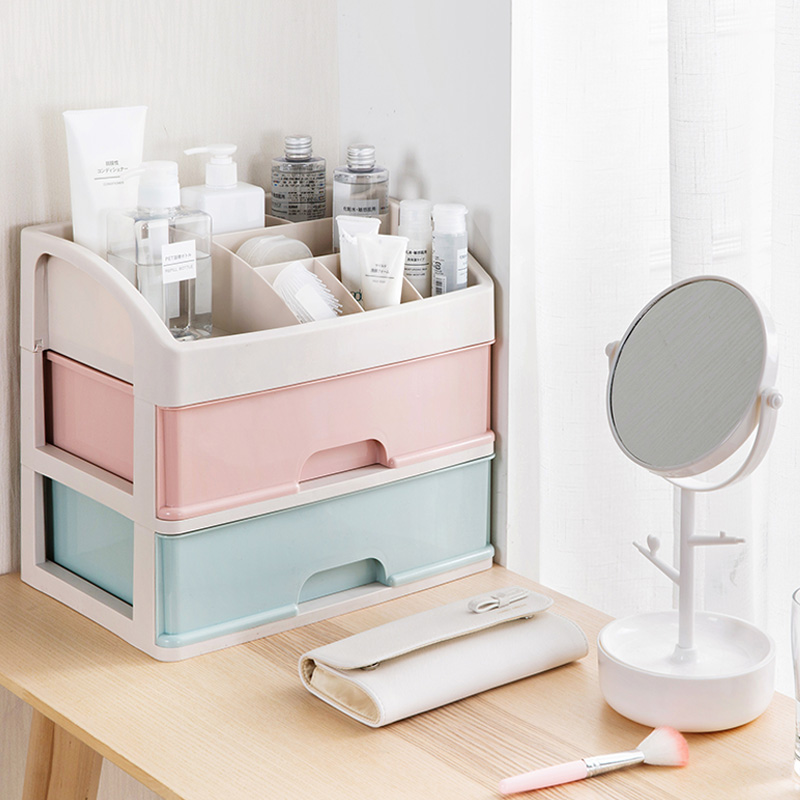 Multi-Layer Makeup Storage Box Small Drawer Desk Sundries Storage Container Cosmetics Storage Box Lipstick Holder Jewelry Box