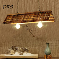 Chinese Zen Teahouse Lights Antique Lamp Home Deco Restaurant Japanese Hanging Lamp Creative Bamboo Chandelier Lighting