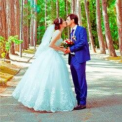 Fansmile 2019 Elegant Luxury Lace Wedding Dress Vintage Ball Gowns Vestido De Noiva Plus Size Customized FSM-502F 6