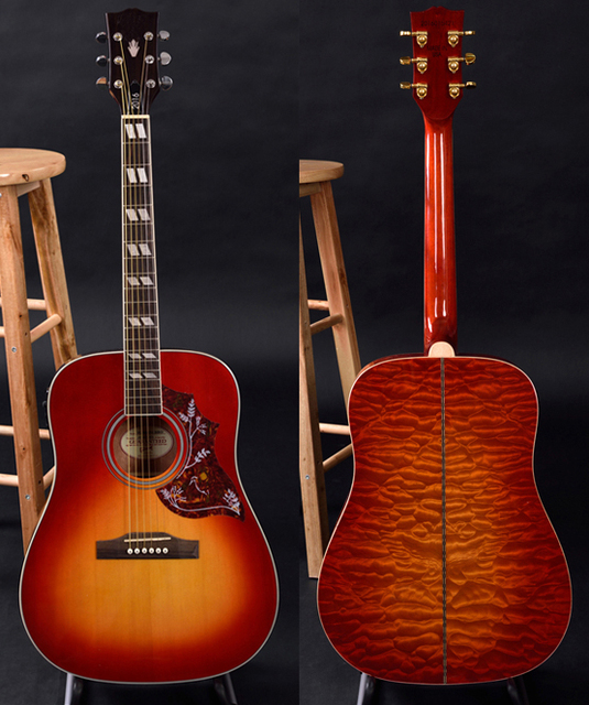 Guitarra acustica, acoustic guitar, solid spruce top, quilted ... : quilted maple acoustic guitar - Adamdwight.com