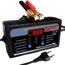 CATBO 2A8A12A 6A 12 V carregador de bateria de carro totalmente automático inteligente de carga rápida seco molhado chumbo ácido digital display LCD carregador