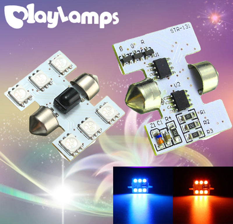 2 pair T10 5050 SMD New RGB LED Panel Car Auto Interior Reading Map Lamp Bulb Light Dome Festoon Remote Controller Flash Strobe alfani new navy blue spaghetti strap sleeveless womens size 12 tank cami top $29