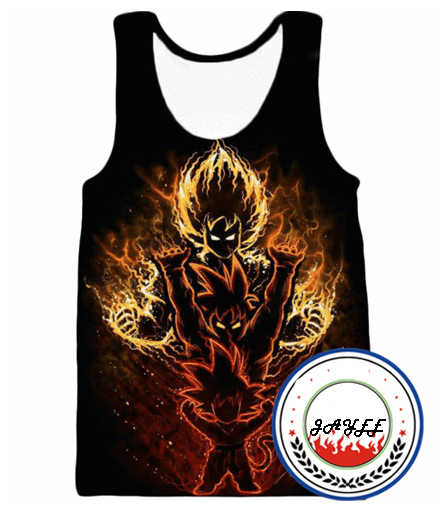 Dragon Ball Gym Tank Top Mannen 3D Bodybuilding Tank Tops Mannen Anime Tops Heren Vest Fitness Tops Tees Super Saiyan singlets