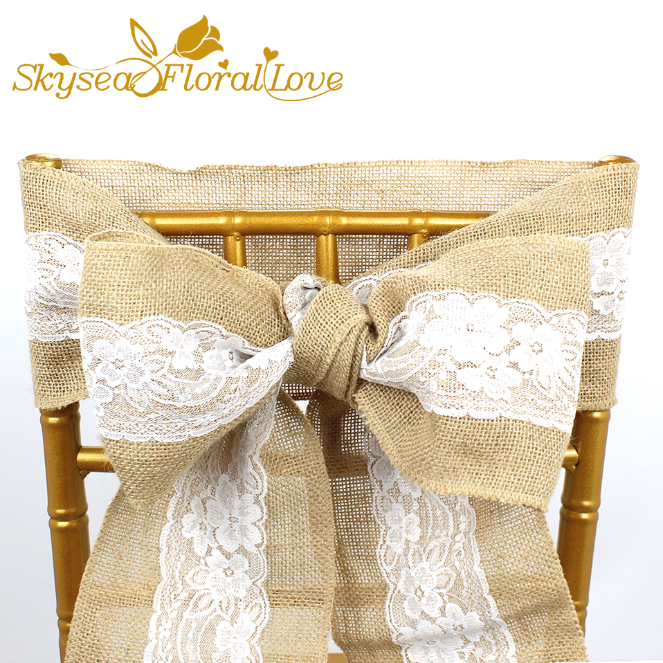 Wedding decoration linen table chair back DIY decor Lace ...