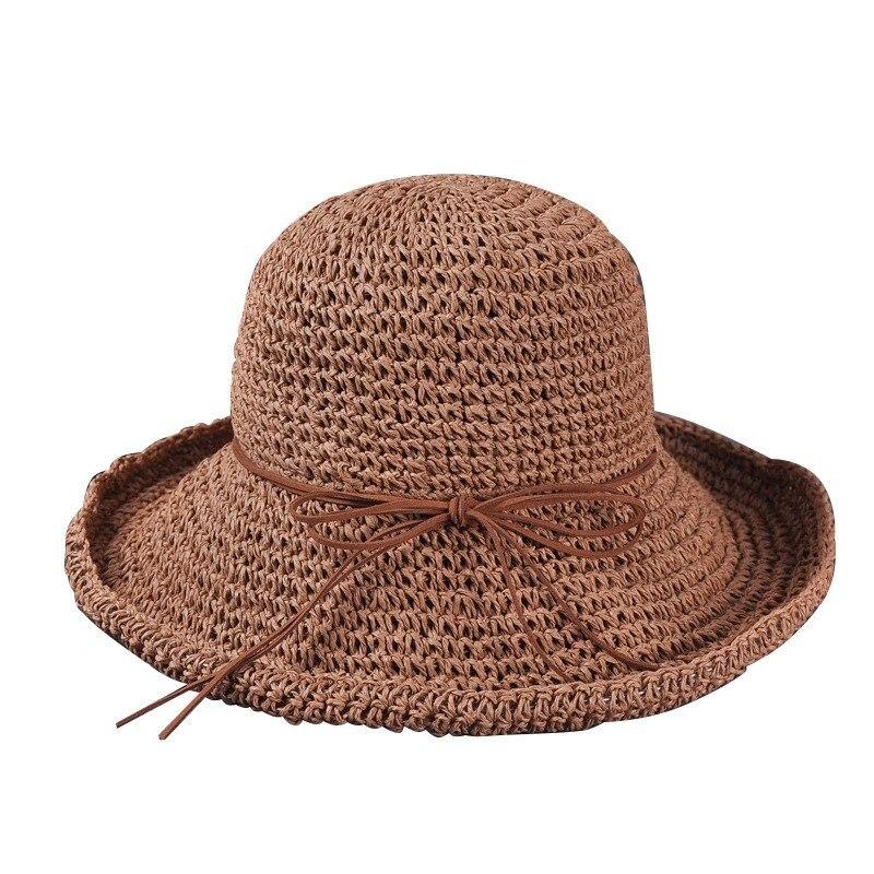 531c0b247c6 Hot Sale Summer Style Womens Fashion Khaki Straw Hat Sun Hat Folding Travel  Beach Cap New