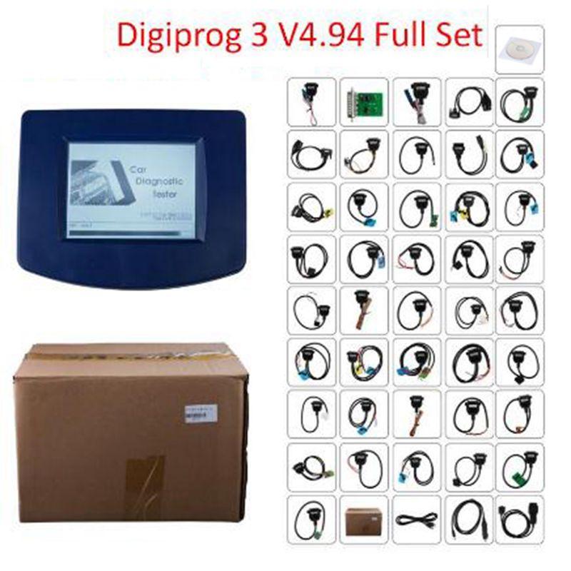 Outil de correction d'odomètre Digiprog iii digiprog3 V4.94 haute qualité garantie d'un an programmeur d'odomètre Digiprog 3 ensembles complets