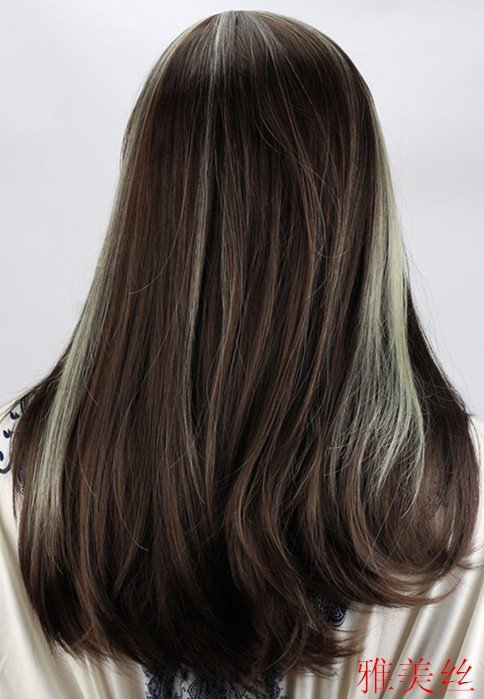 Sell Like Hot Cakes Very Beautiful Black Highlights White Hair Hair