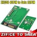 """CE/ZIF 40Pin para SATA 7 + 15 22Pin SATA 1.8 """"SSD HDD Hard Disk Drive Adapter Converter PCI Cartão Exoress"""