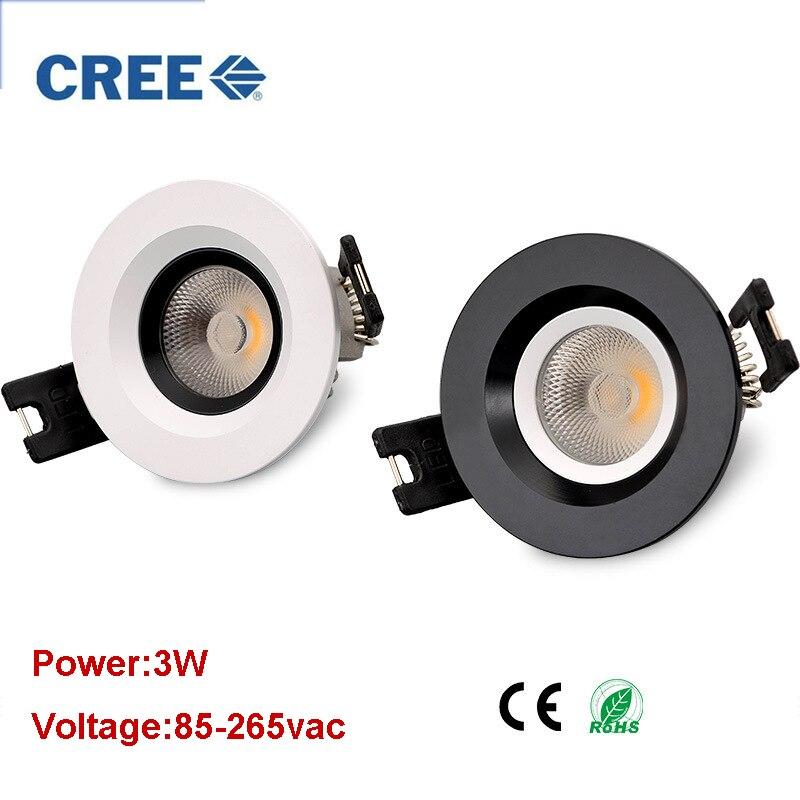 凹型 24 度 LED ダウンライト 3 ワット COB LED スポットライト LED 装飾天井ランプ AC110V/220 ボルトダウンライト  グループ上の ライト & 照明 からの ダウンライト の中 1