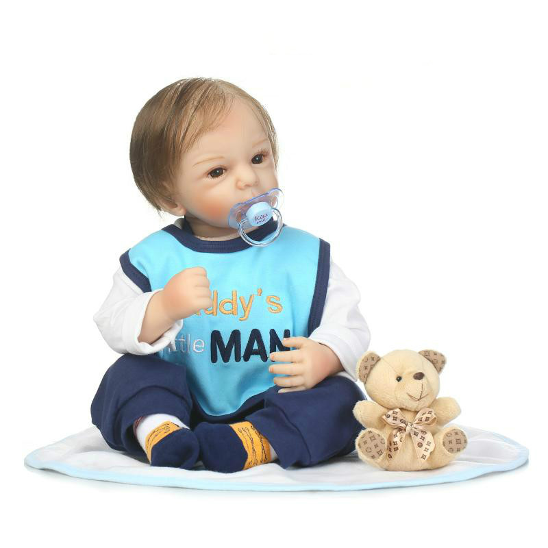 Здесь продается  50cm Soft Reborn Silicone Baby Toy Lifelike Silicone  Boy Baby Doll With Magnetic Pacifier Play House Toy Birthday Gift  Игрушки и Хобби