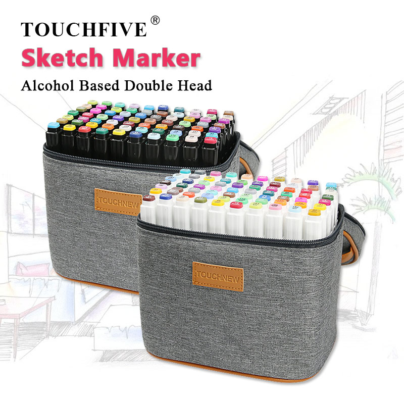 TOUCHFIVE 80 Color Gray Package Markers Pen Set Sketch Alcohol Based Markers Dual Head For Drawing