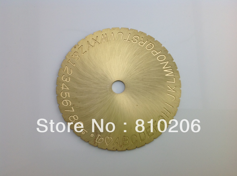 Letter & number engraving dial, Inside ring engraving font/plate for 7G 693, good quality, low price, fast delivery time