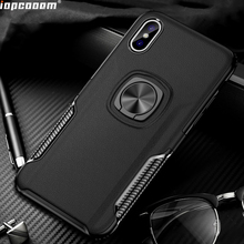 Phone Cases For Iphone XS MAX Case Ring Magnetism Stand Shockproof Car stand Armor back cover Coque 6.5 inch