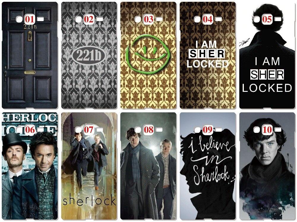 Sherlock 221b Case For Samsung Galaxy A5 A7 2018 Version S9 Plus S4 S5 S6 S7 Edge Note 3 4 5 E5 E7 Phone Cover Coque Fundas