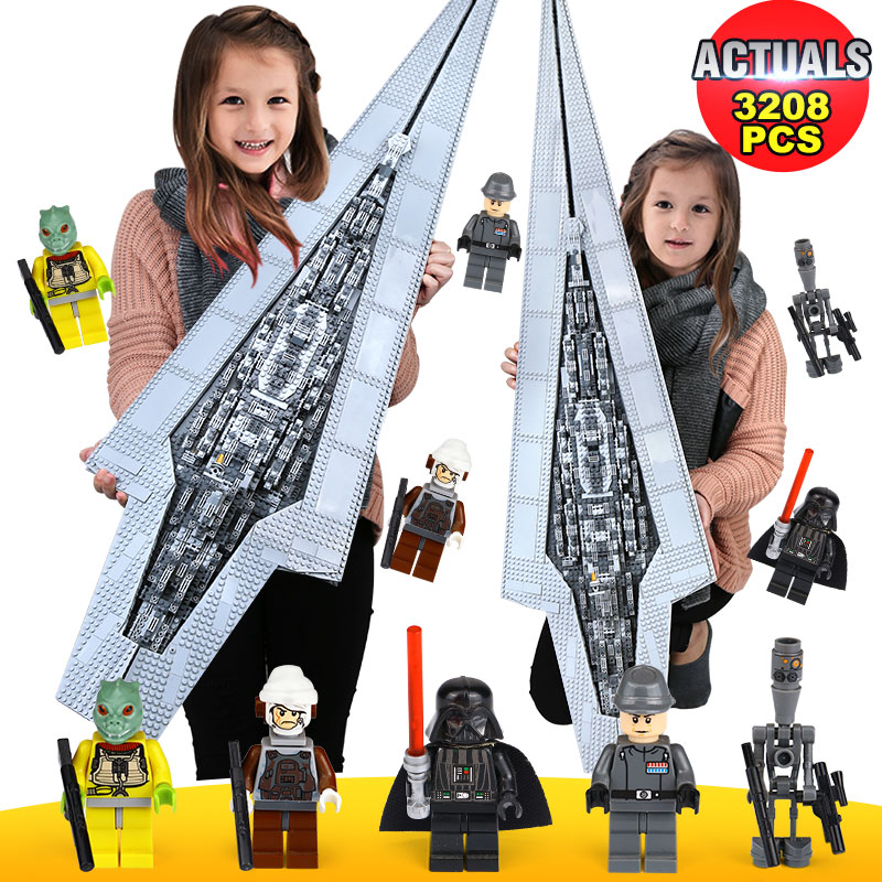 New Lepin 05028 3208pcs Star Wars Execytor Super Star Destroyer Model Building Kit Block Brick Toy Compatible legoedly 10221 05028 star wars execytor super star destroyer model building kit mini block brick toy gift compatible 75055 tos lepin