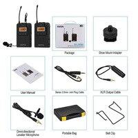 Беспроводные ПЕТЛИЧНЫЕ микрофон микрофонный передатчик приемник для DSLR видеокамеры Аудио рекордер ND998