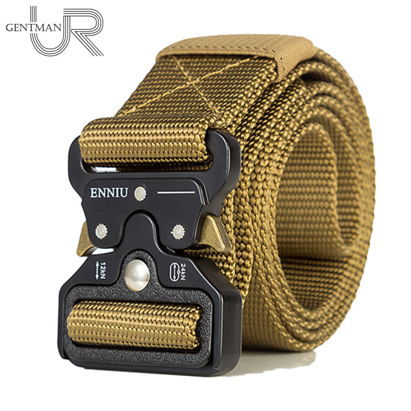 Hot High Qualtiy Men Military Equipment Army   Belt   Men Outdoor Training   Belt   Soldier Combat Tactical   Belts   100% Nylon Waist Strap
