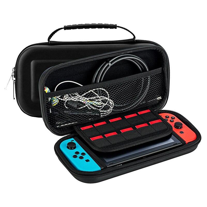 Para Nintend Interruptor Saco De Armazenamento EVA Protective Hard Case Bolsa para Nintendo Game Console Switch Viagem Bolsa de Transporte Caso