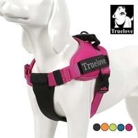 Truelove Pet Dog Collar Harness Vest Small Large Mesh Heavy Duty Reflective Harness Dog Pet Supplies