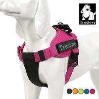 Truelove Pet Dog Collar Harness Vest Small Large Mesh Heavy Duty Reflective Harness Dog Pet Supplies