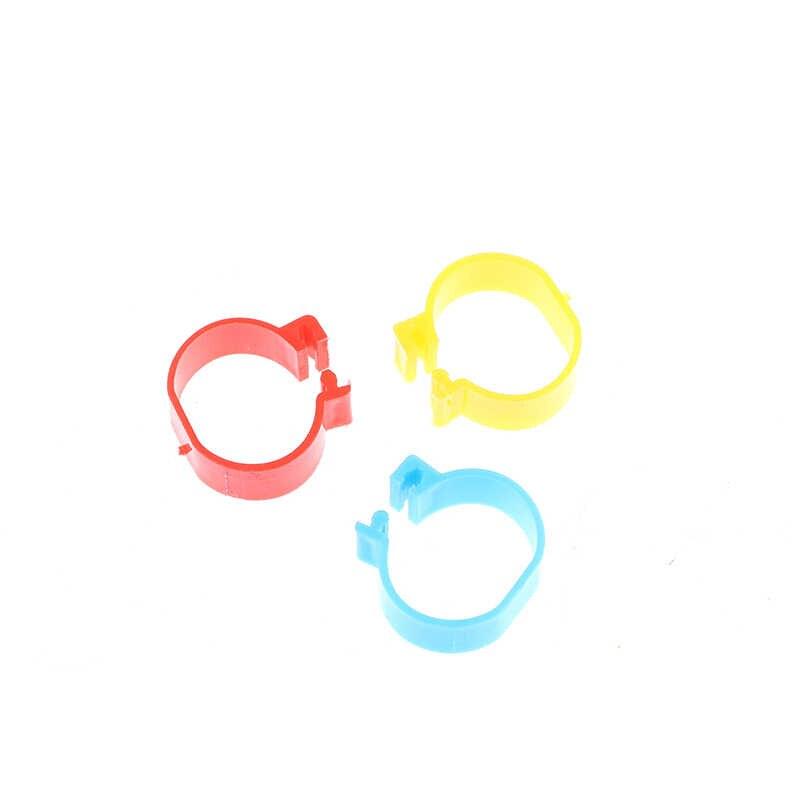 20 sztuk/zestaw średnica wewnętrzna 2.0 Cm pierścień kurczaka kura gołąb obrączka na nóżkę drób Dove ptaki przepiórki gęsi pisklęta kaczka papuga klip pierścienie