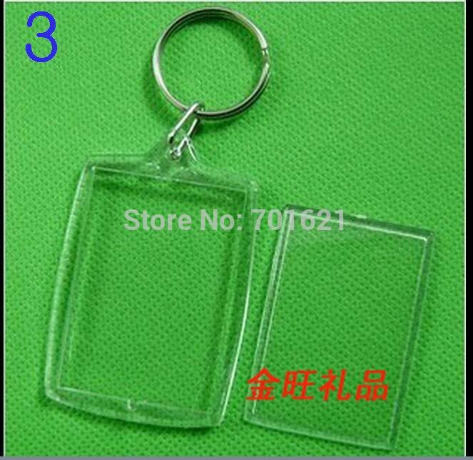 Wholesale DIY Acrylic Blank Photo Keychains Shaped Clear Key Chains Insert Photo Plastic Keyrings DHL Free