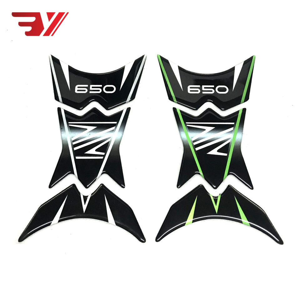 New Style Motorcycle Accessories 3D Tank Pad Protective Decal Sticker For Kawasaki Z650 Z650 Z 650 2017 2018 2019