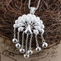 Deer King jewelry wholesale silver handmade sterling silver pendant Pendant S925 peacock female tassel sweater chain