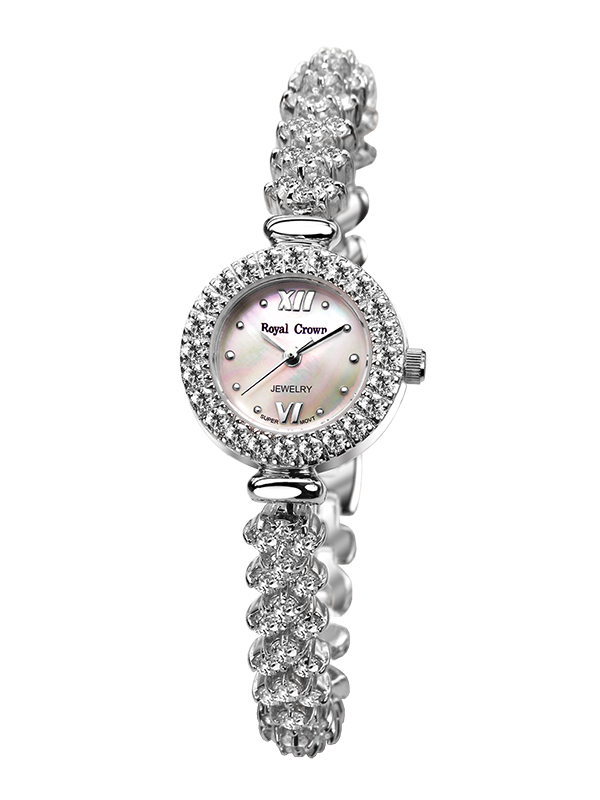 Royal Crown Jewelry Watch 5266B Italy brand Diamond Japan MIYOTA platinum Fashion Ladies South Africa Diamond relogio feminino кольцо royal diamond