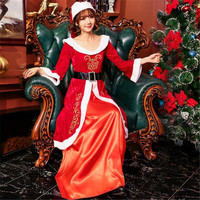 Christmas Women Dress New Hooded Santa Claus Women Party Vestido Sexy Unique Christmas Costume Winter Dresses