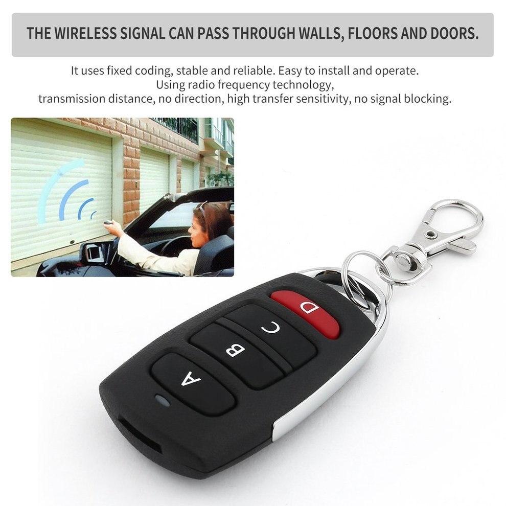 цена на 10PCS Universal Remote Control Key 4 Buttons 433MHz Electric Garage Door Security Alarm System Wireless Controller Key Car Keys