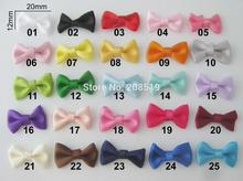 FZ0024 15 colors 20mm*12mm Little bows for craft/clothes decoration 100pcs satin ribbon handmade bowtie