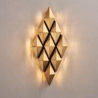 Современные дизайнеры бра вилла дом гостиных выставочных залов проходах бра фон настенный светильник LU8201407