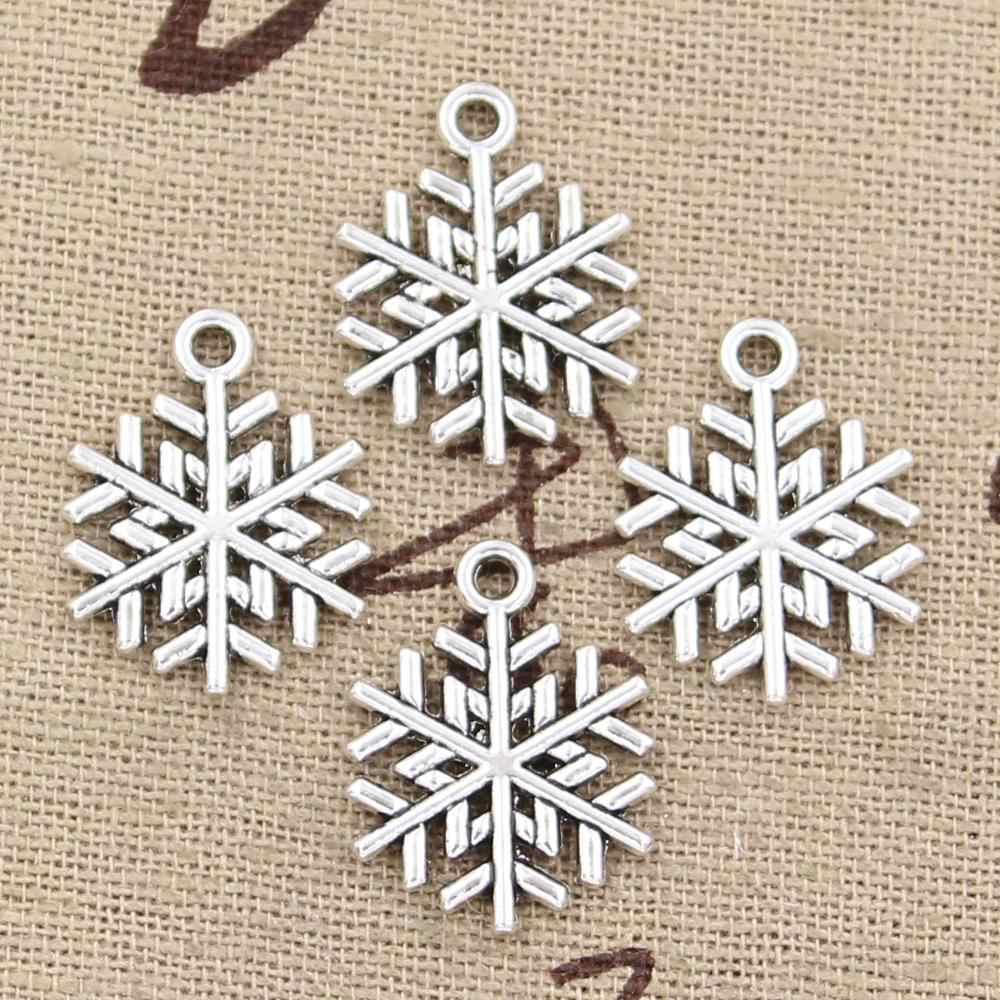 12pcs Charms snowflake snow 19x15mm Antique Making pendant fit,Vintage Tibetan Silver Bronze,DIY Handmade Jewelry