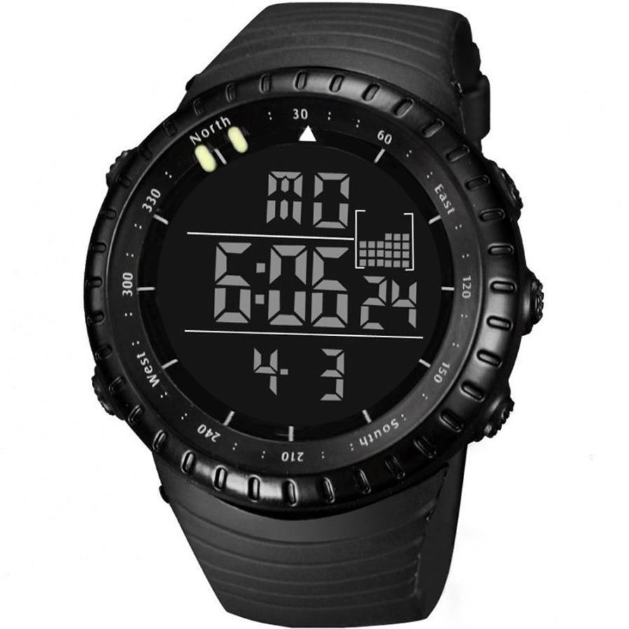 Fashion Men LED Digital Date Sport Military Rubber Quartz Wrist Watch Alarm Waterproof Fantastic Male Movement Relogio Clock A80