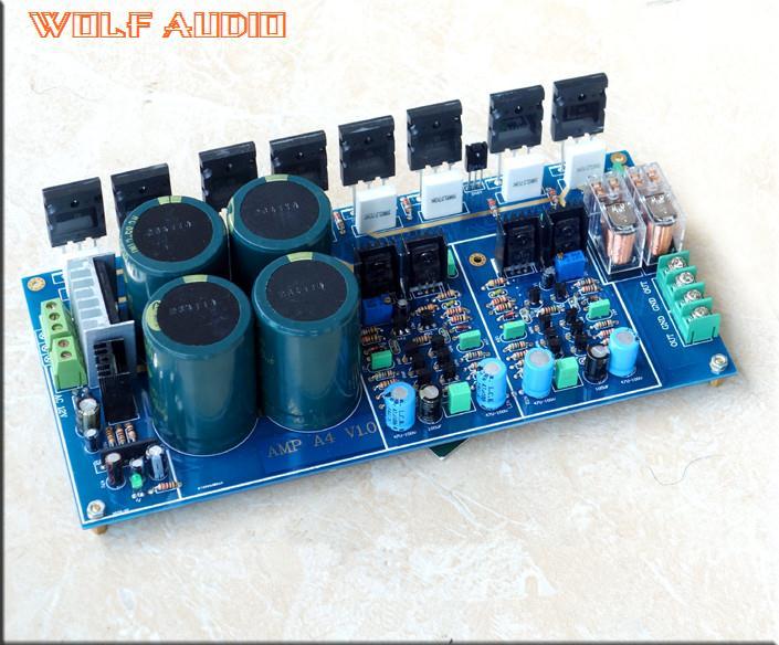 Prix pour L'assemblée NJW0281 NJW0302 Entièrement Symétrique Double Différentiel Amplificateur de Puissance Conseil HIFI AMP 300 W + 300 W