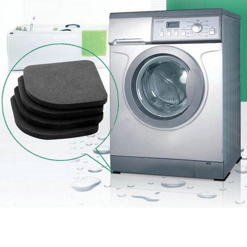 4 шт. холодильник антивибрационные площадки Коврики для стиральной машины током колодки для ножку стула пол Нескользящие коврики S Анти Шум Ванная комната комплект