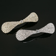 Hair Wear Bow Crystal Hair Clip Pins