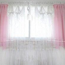 1piece White princess tulle font b curtain b font elegant valance font b curtains b font