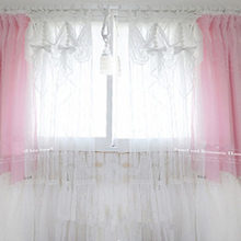 1piece White princess tulle curtain elegant valance curtains living bedroom  window screening wedding decoration voile cortina